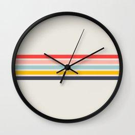 Naomori - Classic Minimal Retro Stripes Wall Clock