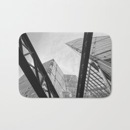 London City Girders and Tall Finance Buildings Bath Mat