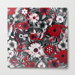 Red Garden Metal Print
