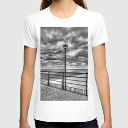 Cleethorpes Pier Lamp Monochrome T-shirt