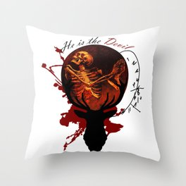 He is the Devil Throw Pillow