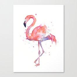 Flamingo Watercolor Canvas Print