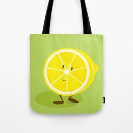 Half lemon character Tote Bag