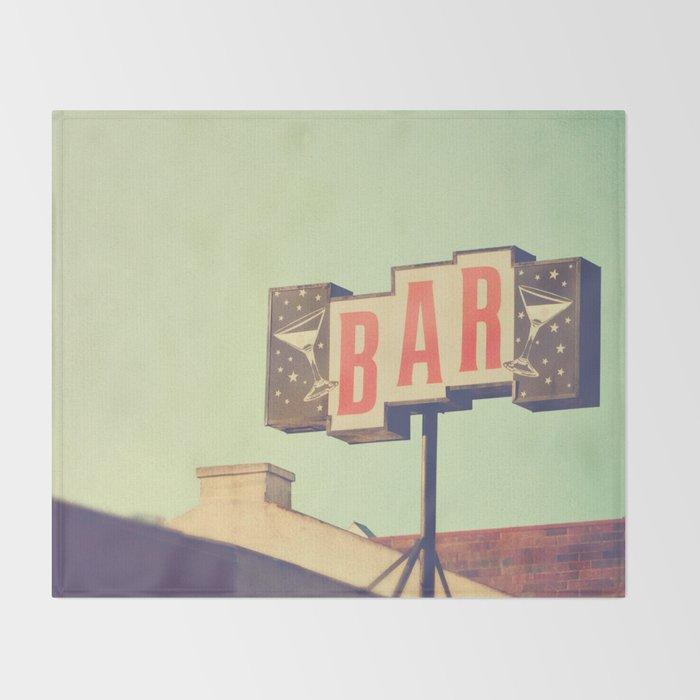 Bar. Los Angeles photograph Throw Blanket