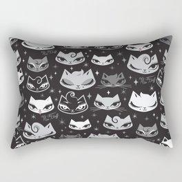 Rockabilly Cats with Pompadours Rectangular Pillow