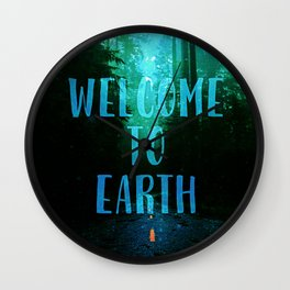 Welcome to Earth Wall Clock