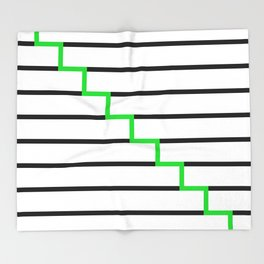 Green Stairs Throw Blanket