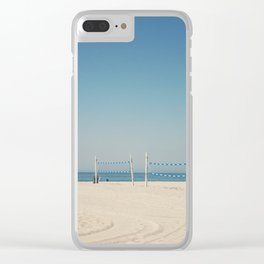 Hermosa Beach Volleyball Clear iPhone Case