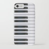 piano iPhone & iPod Cases featuring Piano by rob art | illustration