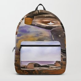The Giant's Causeway,Ireland.(Painting) Backpack