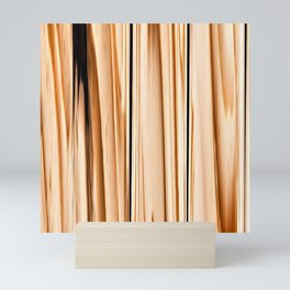 wooden abstract striped pattern Mini Art Print