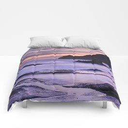 Vela blanca tower. Purple beach Comforters