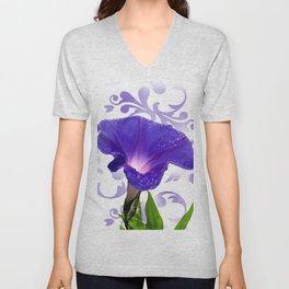 The Morning Glory Unisex V-Neck