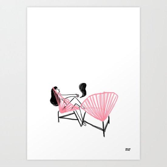 String Chair Art Print