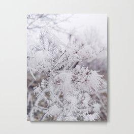 decent white Metal Print
