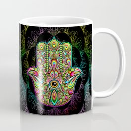 Hamsa Hand Amulet Psychedelic Coffee Mug