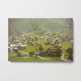 Historic Village of Shirakawa-go Metal Print