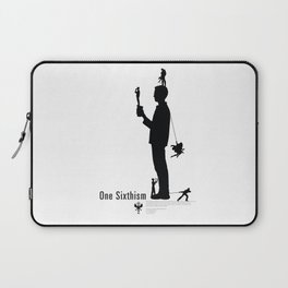 One Sixth Ism (Black Statue) Laptop Sleeve