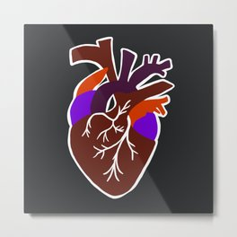 anatomic heart Metal Print