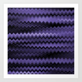 Purple Waves Abstract Art Print