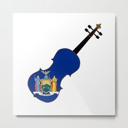 New York State Fiddle Metal Print