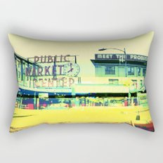 Pike Place Market | Project L0̷SS   Rectangular Pillow