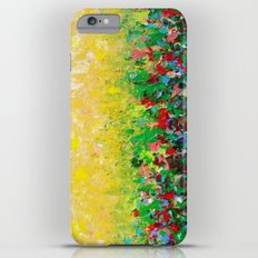 NATURE'S LIVING ROOM - Gorgeous Bright Bold Nature Wildflower Field Landscape Abstract Art New 2012 iPhone 6 Plus Slim Case