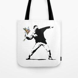 Banksy Flower Thrower Tote Bag