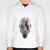 video games Hoodies featuring Triangles Video Games Heroes - Kratos by s2lart