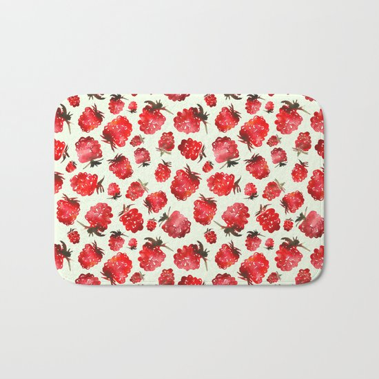 Raspberry vibes Bath Mat