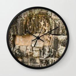 Mismatched Repairs, Bayon Temple, Angkor Thom, Cambodia Wall Clock