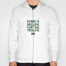 Make a beeline for the treeline Hoody