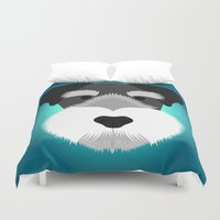 schnauzer Duvet Covers featuring Miniature Schnauzer by threeblackdots