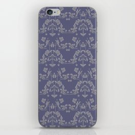Repeating pattern in muted tones iPhone Skin