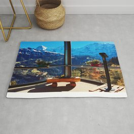 Swiss Alps Looking Glass Rug