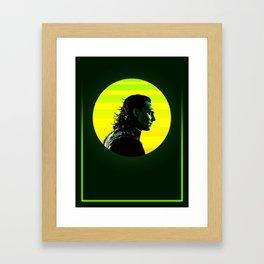 Loki 80's Character Poster Framed Art Print