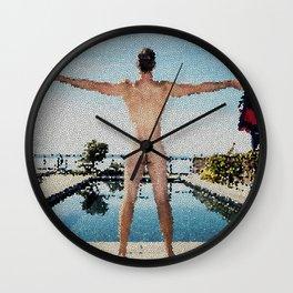 Summer Freedom Tiled Wall Clock