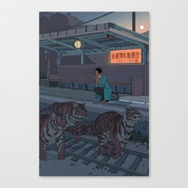 Tiger Station Canvas Print