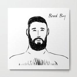 Beard Boy Classic 20 Metal Print