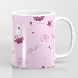 Magic moments with cute bunnies light pink Coffee Mug
