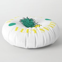 """""""My Little Pineapple Is So Very Sweet"""" tee design. Makes a nice and cute gift this holiday too!  Floor Pillow"""