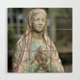 Our Lady of Lourdes Wood Wall Art