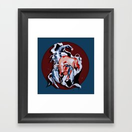Taurus Asc. Scorpion by carographic Framed Art Print