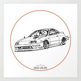 Crazy Car Art 0193 Art Print