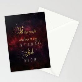 Look at the stars and wish Stationery Cards