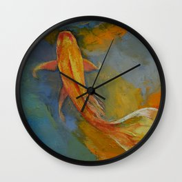 Butterfly Koi Wall Clock