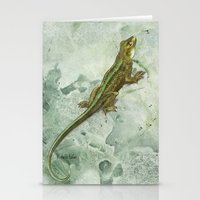 lizard Stationery Cards featuring Lizard by Michelle Behar