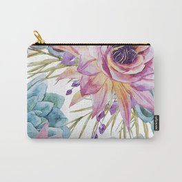 FLOWERS WATERCOLOR 19 Carry-All Pouch