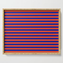 Florida Team Colors Stripes Serving Tray