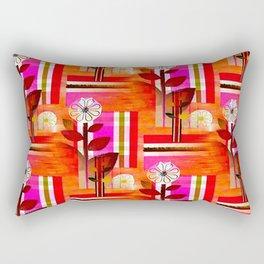 Fleurs Pattern Rectangular Pillow